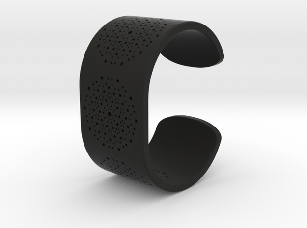 Quasicrystals Diffraction Pattern Bracelet in Black Premium Versatile Plastic
