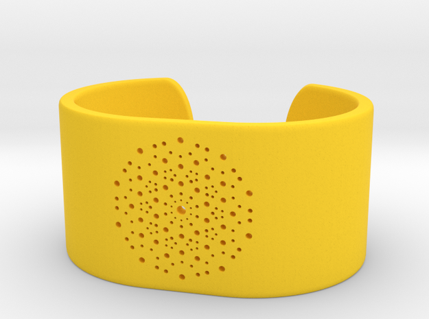 Quasicrystals Diffraction Pattern Bracelet - simpl in Yellow Processed Versatile Plastic