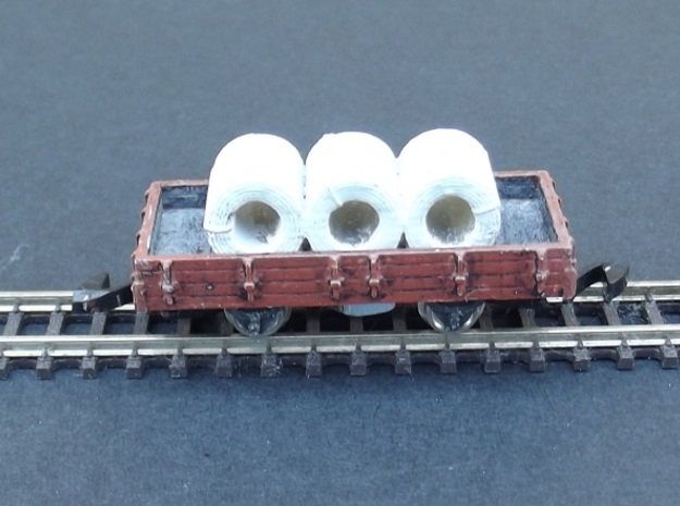 Wagon Plat Body - Nm - 1:160 in Smooth Fine Detail Plastic
