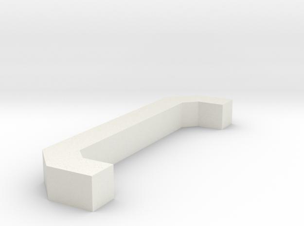 Motorway 3 Pillar custom scale in White Natural Versatile Plastic