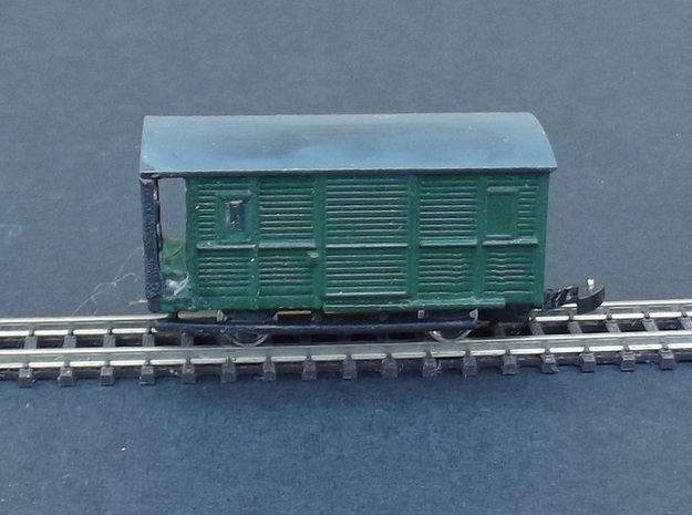 Fourgon A Baggage Body - Nm - 1:160 in Smooth Fine Detail Plastic