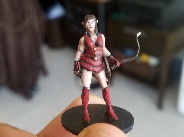 Elf Female Ranged Assassin in Smooth Fine Detail Plastic