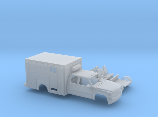 1/87 1999-02 Chevy Silverado  EXTCab Ambulance Kit in Smooth Fine Detail Plastic
