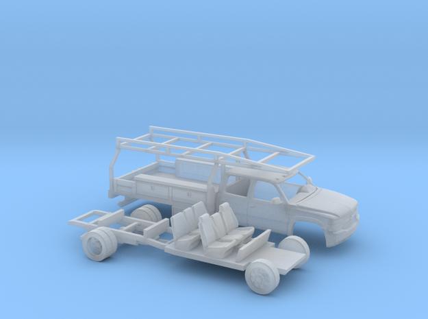 1/87 1999-02 Chevy Silverado Crewcab ContractorKit in Smooth Fine Detail Plastic