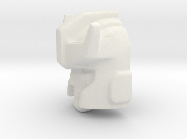 Prowl Head 18mm front  in White Natural Versatile Plastic