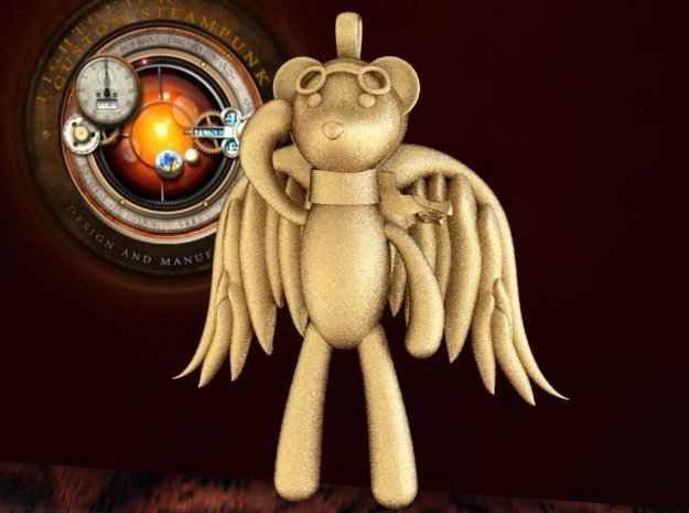 The Aviator 3d printed Steampunk teddy