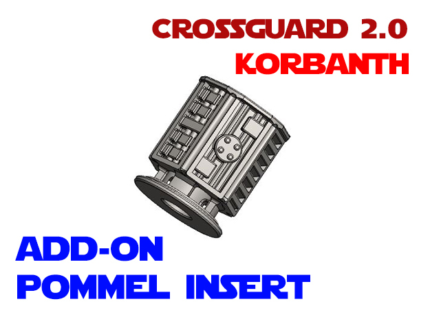 Korbanth Crossguard 2.0 - Pommel Insert in White Natural Versatile Plastic