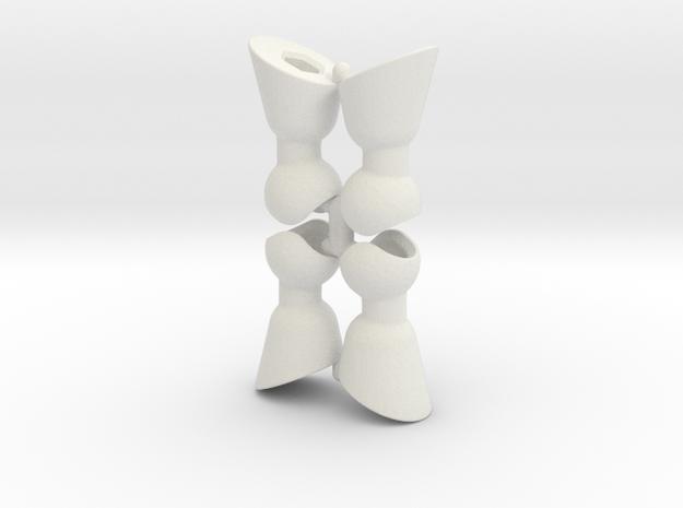 4 Hoof Set for ModiBot in White Natural Versatile Plastic