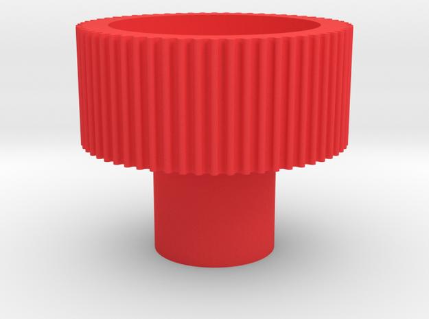 "1/4"" finger driver in Red Processed Versatile Plastic"