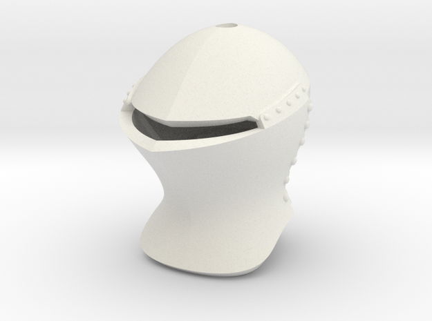 Jousting Helm (For Crest) in White Natural Versatile Plastic: Small