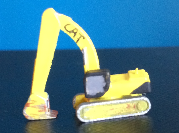 CAT 375 Excavator pose 4 in Smoothest Fine Detail Plastic: 1:500