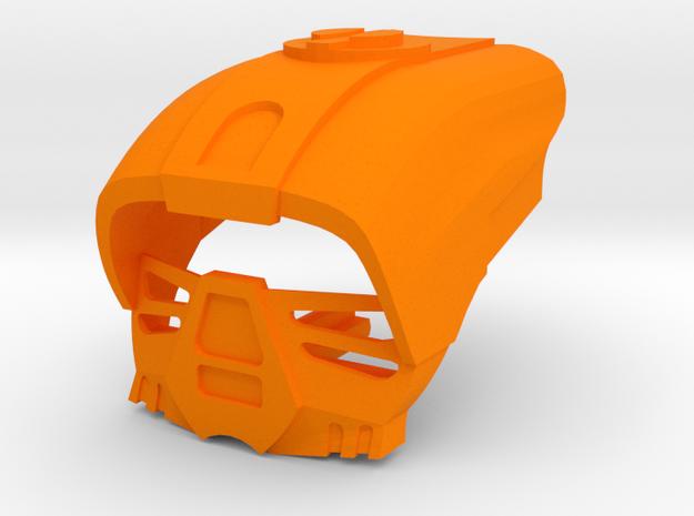 Kanohi Komau in Orange Processed Versatile Plastic