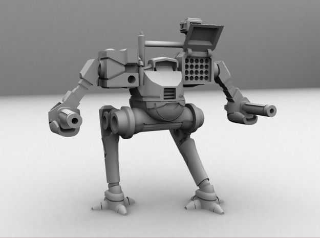 Black Steed Mecha 1/285 6mm 3d printed CG image of the actual model