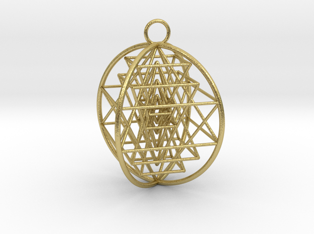 3D Sri Yantra 4 Sided Optimal