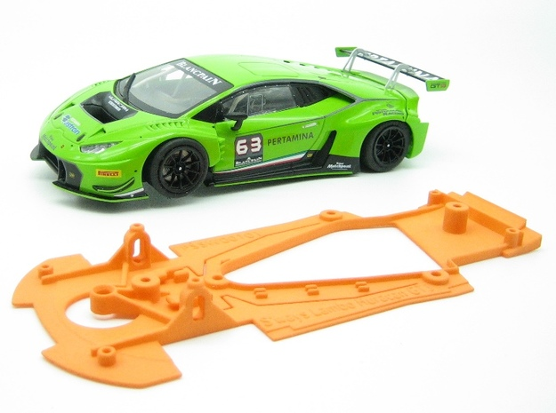 PSSW00101 Chassis for Sideways Lambo Huracan GT3 in Orange Processed Versatile Plastic