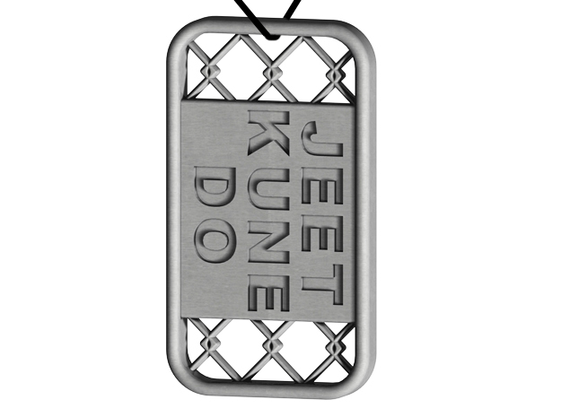 Jeet Kune Do Dog Tag in Stainless Steel
