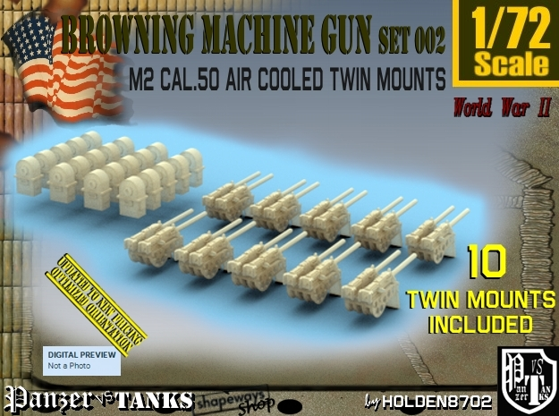 1/72 M2 Air Cooled Twin M2 MG Mount Set002
