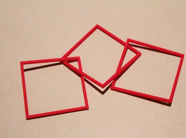 Interlocking Square Bracelets Medium 3d printed