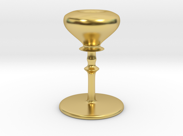 Lovely stand shade in Polished Brass