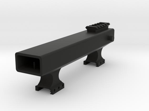 Alien Terror Picatinny Riser with Iron Sights in Black Natural Versatile Plastic