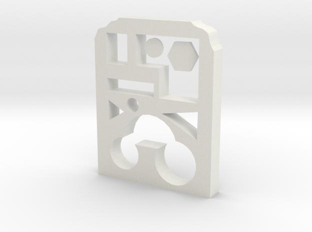 Geometric storage box in White Natural Versatile Plastic
