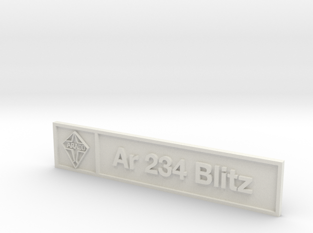 Ar 234 Blitz Plaque in White Natural Versatile Plastic