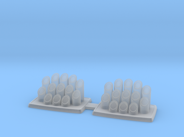 1:32 Organ Pipes for rear tray in Smoothest Fine Detail Plastic