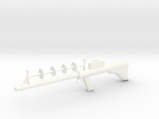 Lost in Space Season 1 Laser Rifle 1/6 1:6 Scale in White Processed Versatile Plastic