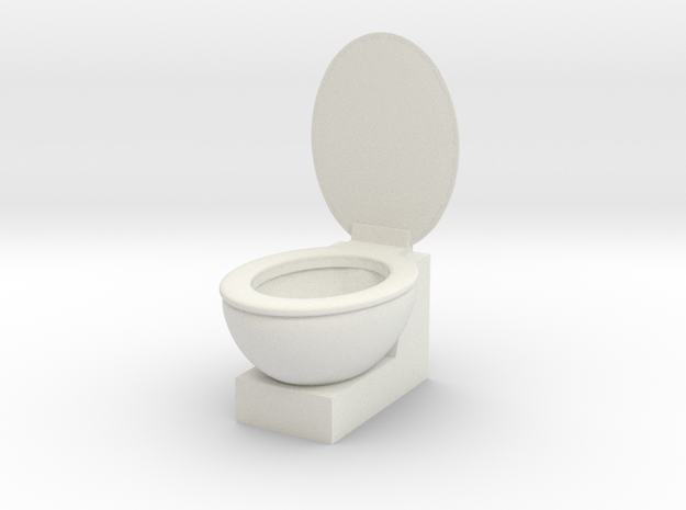 Loo in White Natural Versatile Plastic