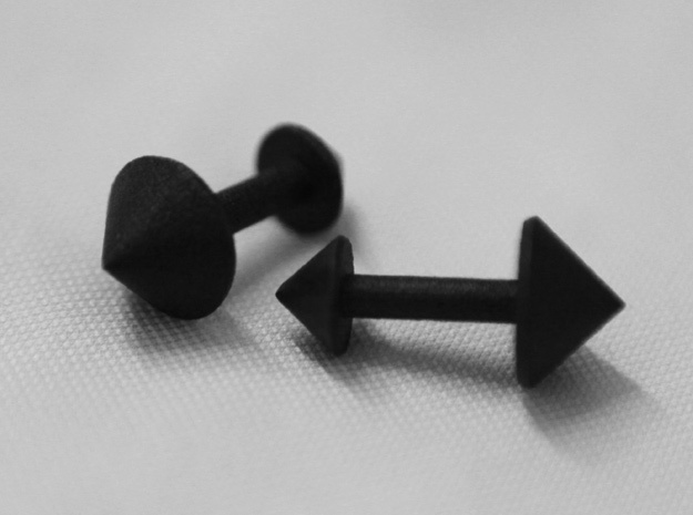 Spike Cufflinks in Matte Black Steel