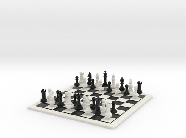 Bumpy Chess Set in Matte Full Color Sandstone