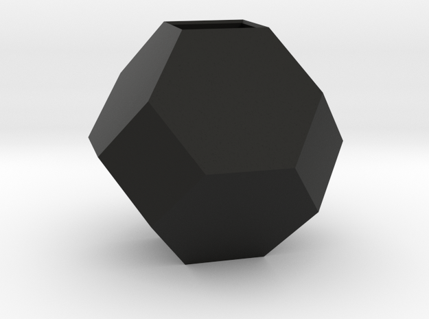 mini geodesic dome planter in Black Natural Versatile Plastic