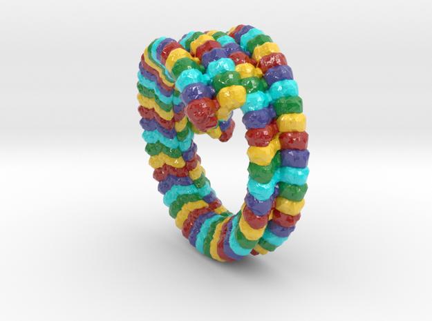 Ebola Virus Capsid (Large) in Glossy Full Color Sandstone