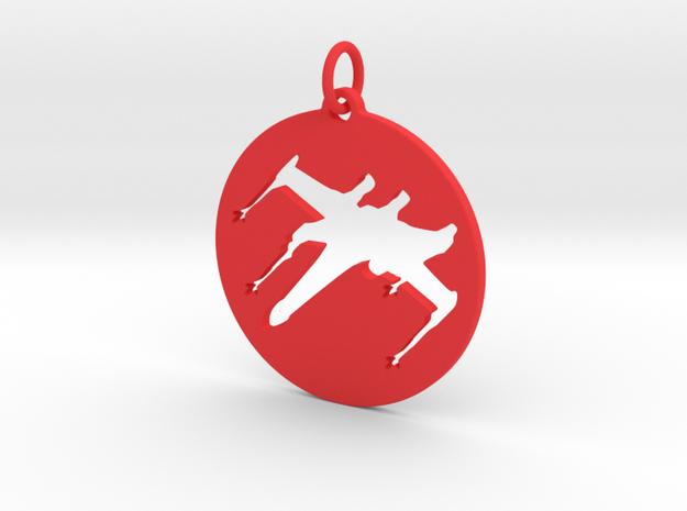 X-Wing Pendant  in Red Processed Versatile Plastic