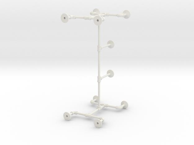 Pipe Table Base in White Natural Versatile Plastic