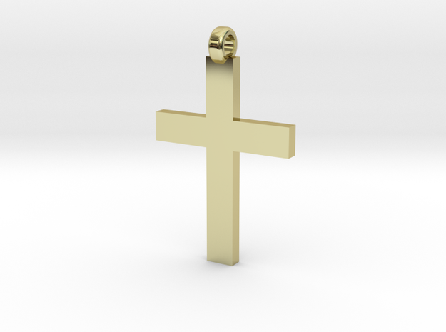 Cross Necklace in 18k Gold Plated Brass