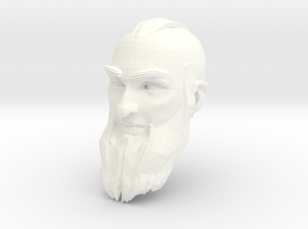 dwarf head 4 in White Processed Versatile Plastic