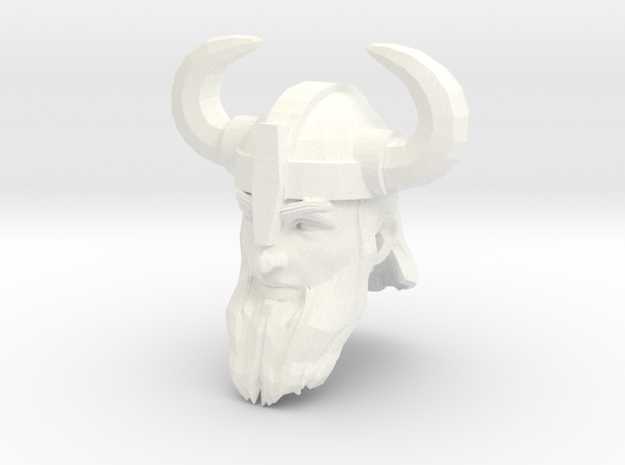 dwarf head 3 with helmet in White Processed Versatile Plastic
