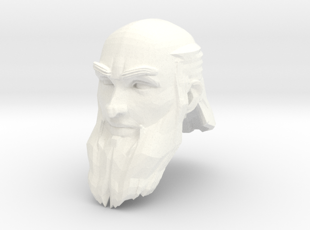 dwarf head 3 in White Processed Versatile Plastic