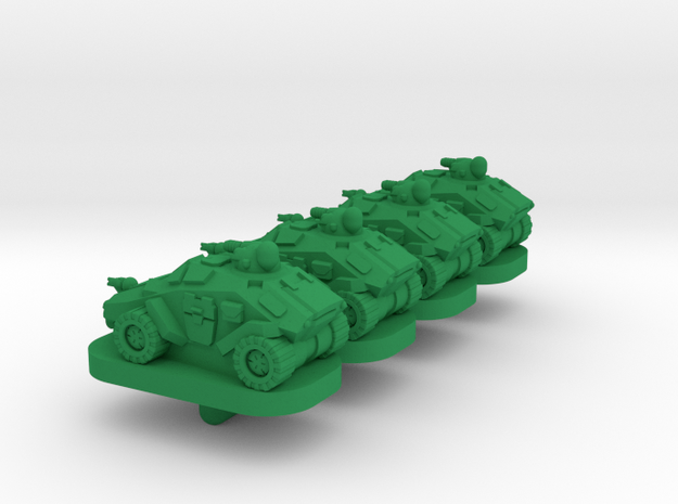 Brumby Light Wheeled Armor - 3mm in Green Processed Versatile Plastic