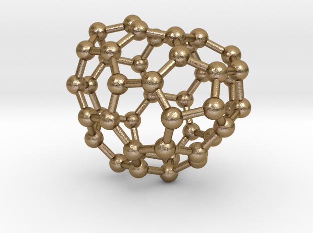0676 Fullerene c44-48 c1 in Polished Gold Steel