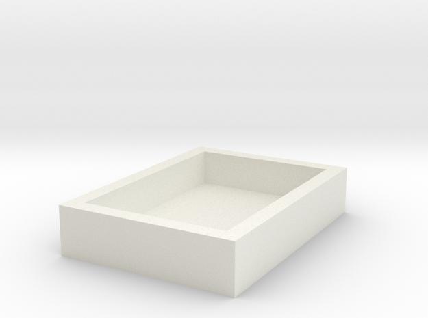 15x11mm Speaker Resonance Box in White Natural Versatile Plastic