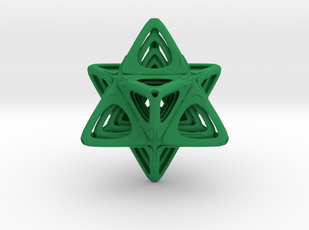 Sacred Merkaba nested in Green Processed Versatile Plastic
