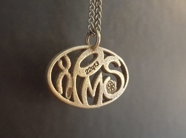 PMSF - Pendant in Polished Bronzed Silver Steel