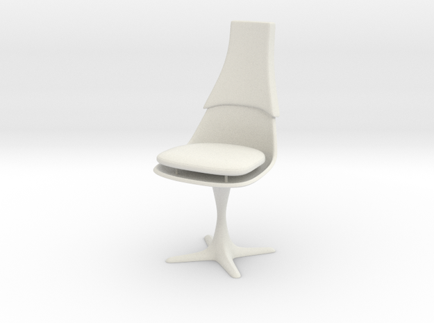 TOS Burke Chair Ver.2 1:6 12-inch Seat Separated in White Natural Versatile Plastic
