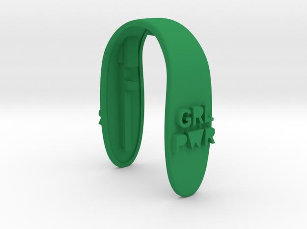 GRL PWR KEY FOB  in Green Processed Versatile Plastic