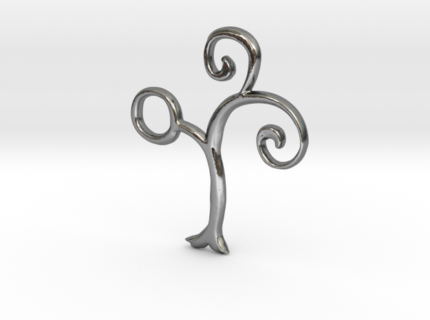 Alchemical Silver 02 (Loop Available) in Polished Silver: Small