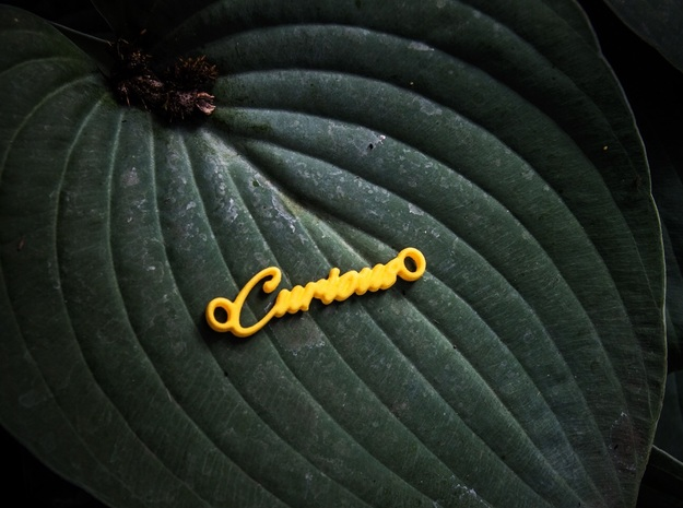 Curious Pendant - Vivid Colors in Yellow Processed Versatile Plastic