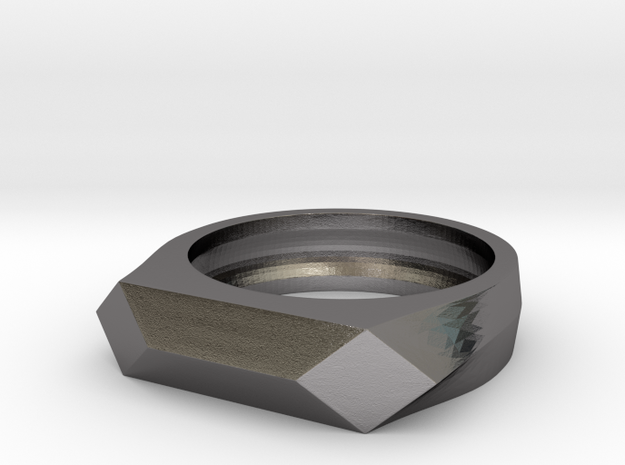 Gamora's Faceted Ring in Polished Nickel Steel: 6 / 51.5