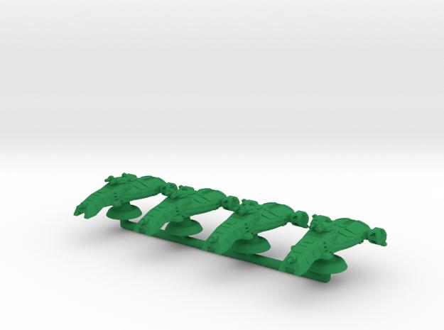 Courser Medium Hover Armor - 3mm in Green Processed Versatile Plastic